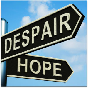 despair or hope signpost