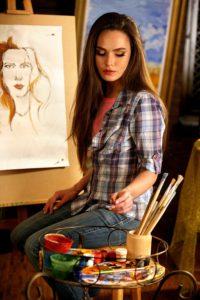 Artist painting.